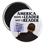 "And Barack Obama - Reader not 2.25"" Magnet (1"