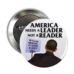 "And Barack Obama - Reader not 2.25"" Button (1"