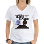 And Barack Obama - Reader not Women's V-Neck T-Shi