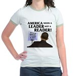And Barack Obama - Reader not Jr. Ringer T-Shirt