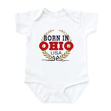 BORN IN OHIO Infant Bodysuit