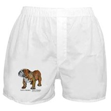 Bulldog's Life Motto Boxer Shorts