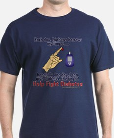 Give Diabetes the finger (self) T-Shirt