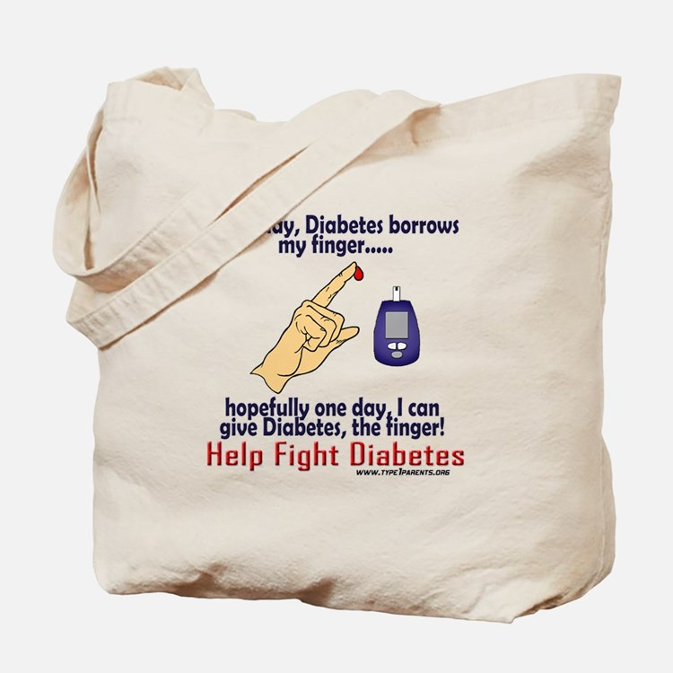 Give Diabetes the finger (self) Tote Bag