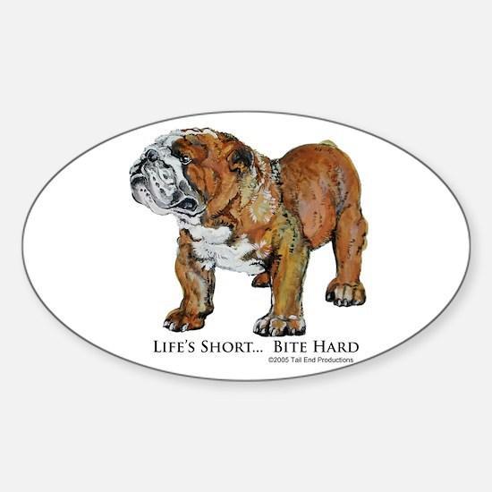 Bulldogs Life Motto Sticker (Oval)