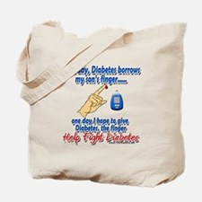 Give Diabetes the finger (son) Tote Bag