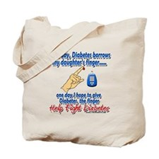 Give Diabetes the finger (daughter) Tote Bag