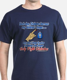 Give Diabetes the finger (kids) T-Shirt