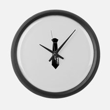 Tie - Woman Large Wall Clock