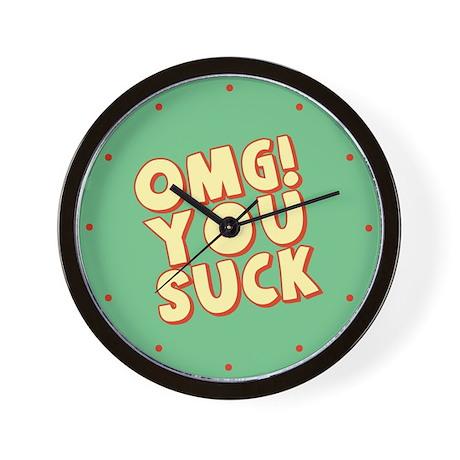 OMG You Suck Wall Clock