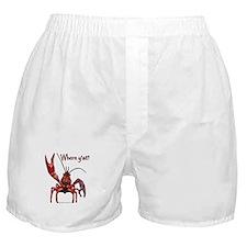 Crawfish - Where Y'at? Boxer Shorts