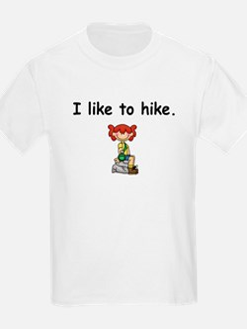 I Like to Hike Girls T-Shirt