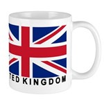 Flag of UK (labeled) Mug