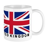 Flag of UK (labeled) Mug