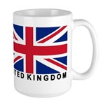 Flag of UK (labeled) Large Mug