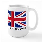 Flag of UK (labeled) Large Mug