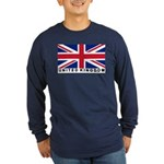 Flag of UK (labeled) Long Sleeve Dark T-Shirt