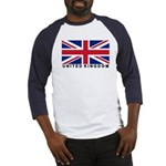 Flag of UK (labeled) Baseball Jersey