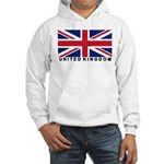 Flag of UK (labeled) Hooded Sweatshirt