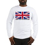 Flag of UK (labeled) Long Sleeve T-Shirt