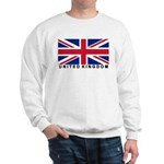 Flag of UK (labeled) Sweatshirt