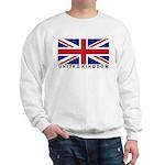 Flag of UK (labeled) Sweatshirt