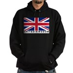 Flag of UK (labeled) Hoodie (dark)
