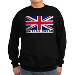 Flag of UK (labeled) Sweatshirt (dark)