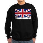 Flag of UK (labeled) Sweatshirt (dark)