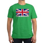 Flag of UK (labeled) Men's Fitted T-Shirt (dark)
