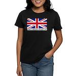 Flag of UK (labeled) Women's Dark T-Shirt