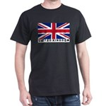 Flag of UK (labeled) Dark T-Shirt