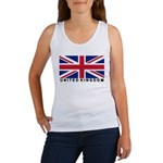 Flag of UK (labeled) Women's Tank Top