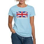 Flag of UK (labeled) Women's Light T-Shirt