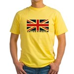 Flag of UK (labeled) Yellow T-Shirt