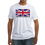 Flag of UK (labeled) Fitted T-Shirt