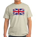 Flag of UK (labeled) Light T-Shirt