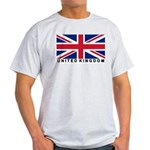 Flag of UK (labeled) Light T-Shirt