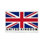 Flag of UK (labeled) Rectangle Magnet (100 pack)