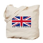 Flag of UK (labeled) Tote Bag
