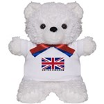 Flag of UK (labeled) Teddy Bear