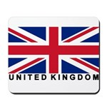 Flag of UK (labeled) Mousepad