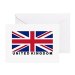 Flag of UK (labeled) Greeting Card