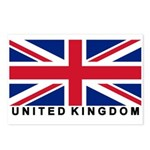 Flag of UK (labeled) Postcards (Package of 8)