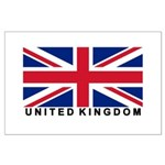 Flag of UK (labeled) Large Poster