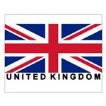 Flag of UK (labeled) Small Poster