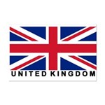 Flag of UK (labeled) Mini Poster Print