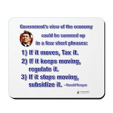 Reagan Govt View of Economy Mousepad