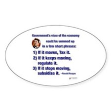 Reagan Govt View of Economy Oval Decal