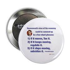 "Reagan Govt View of Economy 2.25"" Button"